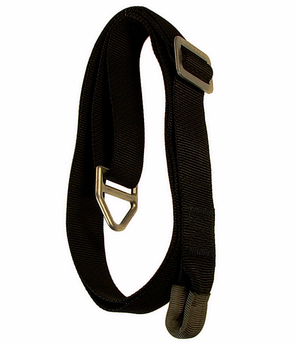 lanyard 43-77 inches adjustable black with v-ring